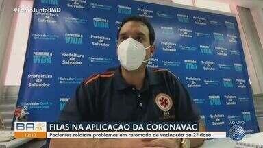 Secretário municipal da Saúde comenta longas filas na 2ª dose da vacinação da Coronavac - Veja o que disse Léo Prates, autoridade de saúde.