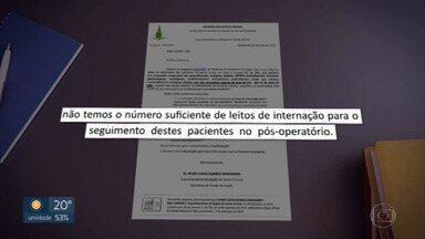 Documento interno da Secretaria de Saúde revela falta de leitos para retomar cirurgias - Ofício que expõe a situação foi emitido no mesmo dia em que a pasta anunciou a volta das cirurgias eletivas.