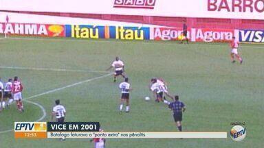 Relembre a campanha do Botafogo-SP no Paulistão de 2001 - Pantera foi vice-campeão do Campeonato Paulista daquele ano.