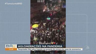 Pesquisador fala sobre aumento de casos da Covid-19 causado por festas clandestinas - Festas no estilo 'paredão' são recorrentes durante pandemia na Bahia.