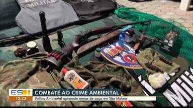 Armas e equipamentos de caça são apreendidos em São Mateus no ES - Assista ao vídeo.