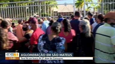 Confusão em São Mateus para tomar segunda dose da Coronavac - Assista ao vídeo.