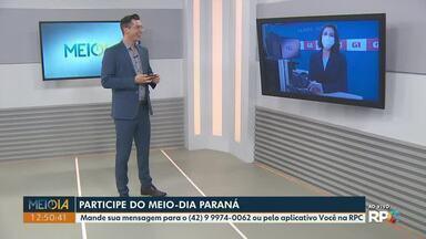 Mensagens: Telespectadores participam do Meio-Dia Paraná desta terça-feira (11) - Participe pelo telefone (42) 99974-0062 ou pelo aplicativo Você na RPC!