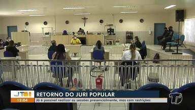 Júri Popular retoma atividades no Fórum de Santarém - Sessões estão sendo realizadas presencialmente, respeitando à restrições.
