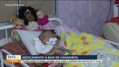 Mãe luta para conseguir comprar remédio a base de canabidiol para filha na Bahia - A criança de 11 anos sofre de epilepsia e o medicamento pode auxiliar no tratamento.