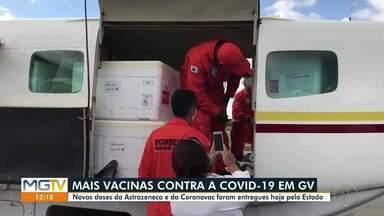 Governador Valadares recebe 18ª remessa de vacinas contra a Covid-19 - Município recebe doses da Astrazeneca e Coronavac.