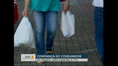 Aumenta índice de confiança do consumidor - Em Chapecó, índice aumentou 6,11% entre abril e maio