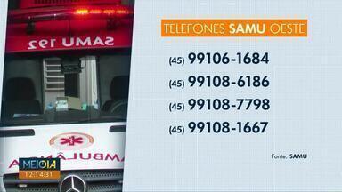 Telefone 192 do Samu está com problemas - O serviço disponibilizou outros números para a população.