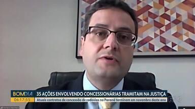 35 ações envolvendo concessionárias tramitam na Justiça - Atuais contratos de concessão de rodovias no Paraná terminam em novembro deste ano.