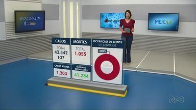 Maringá encerra semana com queda de mortes - Veja dados atualizados da Covid-19 na cidade.