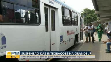 Empresas de ônibus da Grande João Pessoa suspendem as integrações metropolitanas - Sindicato das Empresas de Transporte Coletivo Urbano de Passageiros no Município de João Pessoa alega problemas financeiros para a decisão.