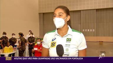 Atletas que vão para Olímpiadas são vacinadas em Fortaleza - Atletas que vão para Olímpiadas são vacinadas em Fortaleza