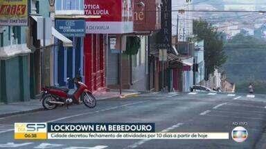 Lockdown em Bebedouro; cidade que fica no interior de SP decreta fechamento de atividades por 10 dias - Presidente Prudente e São José do Rio Preto também registram aumento de internações por causa da Covid-19.