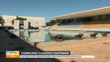 Piscinas do Complexo Claudio Coutinho estão abandonadas - Alunos e atletas do Programa escola do Esporte não conseguem treinar. Espaço está sem aulas, sem manutenção e sem cuidados do GDF e do consórcio Arena BSB.