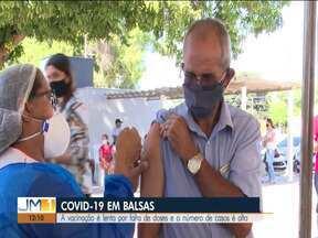 Número de casos ativos de Covid-19 continua subindo em Balsas - A vacinação é lenta por falta de doses e o número de casos é alto.