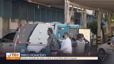 Suspeito de matar mulher e filhas e guardar corpos durante 4 dias vai a júri popular - Magno Brandão Ferreira está preso desde junho de 2018. Crime aconteceu em São Vicente.