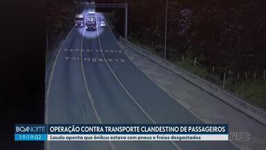 Acidente na BR-376: laudo aponta que ônibus estava com pneus e freios desgastados - 19 pessoas morreram. Acidente foi em janeiro, em Guaratuba.