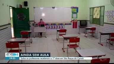 Aulas presenciais ainda não voltaram em São Roque do Canaã, no ES - Assista a seguir.