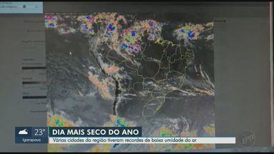 Frente fria se aproxima da região de Ribeirão Preto, SP; veja previsão - Veja como ficam os termômetros e a umidade relativa do ar nos próximos dias.