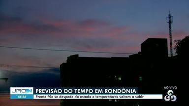Veja a previsão do tempo pra Porto Velho e interior do estado - Frente fria se despede de Rondônia.