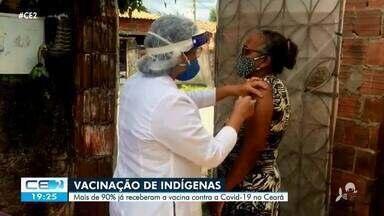 Cerca de 90% dos índios do Ceará receberam a vacina contra a Covid-19 - Confira mais notícias em g1.globo.com/ce
