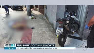 Motociclista é morto e carona é ferido em Laranjeiras, na Serra, ES - Assista a seguir.