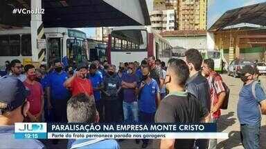 Moradores de Belém são afetados por paralisação de rodoviários da Monte Cristo - Parte da frota permanece parada nas garagens.
