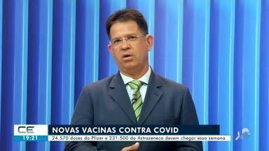 Mais doses da Pfizer e da Astrazeneca chegam essa semana no Ceará - Confira mais notícias em g1.globo.com/ce