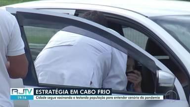 Cabo Frio, RJ, segue com ação de testagem para entender cenário da pandemia na cidade - Objetivo é testar o máximo possível de moradores para isolar os casos positivos e analisar o cenário da Covid-19 na cidade.