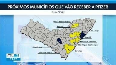 Mais sete municípios de Alagoas devem receber vacina da Pfizer - Gestores passam por treinamento e municípios estão se estruturando para o armazenamento da vacina, que já é aplicada em Maceió e Arapiraca.