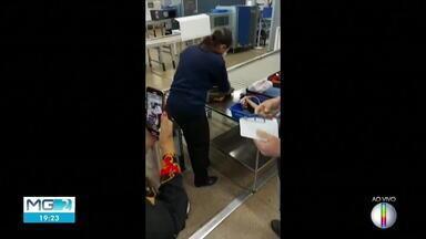 Deputada Alê Silva é retirada de aeronave pela PF no aeroporto de BH (Parte 2) - Segundo a BH Airport, que administra o terminal, a passageira não concordou com processo de inspeção física da bagagem.