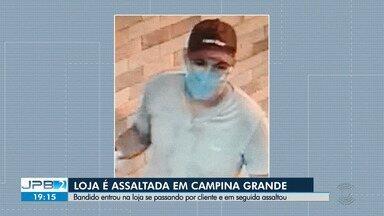 Loja de produtos naturais é assaltada em Campina Grande - Bandido entrou na loja se passando por cliente.