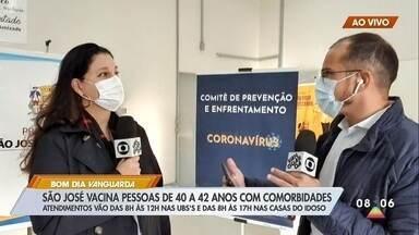Covid-19: São José inicia vacinação de pessoas a partir de 40 anos com comorbidades - Veja onde se imunizar