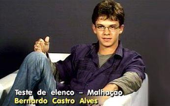 Veja o teste de Bernardo Castro para Malhação! - O Video Show revela como o rapaz conseguiu a vaga na novela.