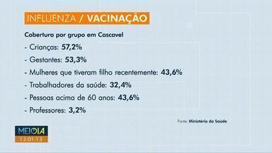 Procura por vacina contra a gripe está baixa - Em Cascavel, apenas 43,5% do público alvo atual foi imunizado até agora.