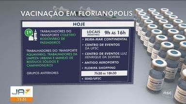 Confira o andamento da vacinação contra a Covid-19 na Grande Florianópolis - Confira o andamento da vacinação contra a Covid-19 na Grande Florianópolis