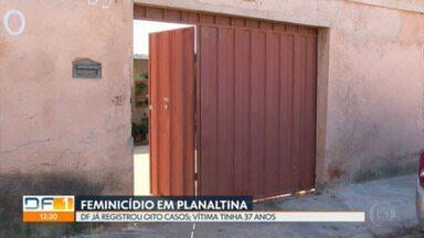 Mulher é morta a facadas por ex-companheiro, em Planaltina - O crime foi domingo. Segundo os familiares, o homem atacou a mulher na frente dos filhos. O autor foi preso em flagrante.