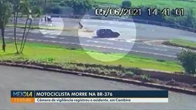Motociclista morre em acidente na BR-376 - Motorista que provocou acidente fugiu do local.