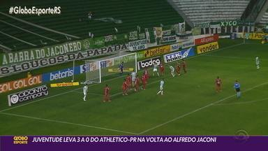 Juventude perde por 3 a 0 para o Athletico-PR no retorno ao Alfredo Jaconi - O time Alviverde pouco criou e não conseguiu reagir na partida.