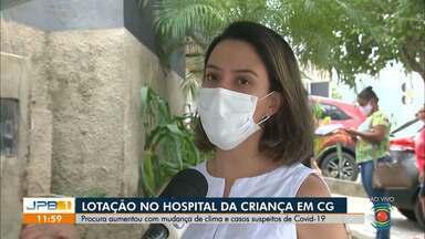 Lotação no Hospital da Criança em Campina Grande preocupa profissionais de saúde - Existem casos suspeitos de Covid-19.
