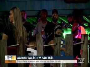 Fim de semana é marcado por aglomerações - Praias cheias e pessoas sem máscara nos bares da orla de São Luís.