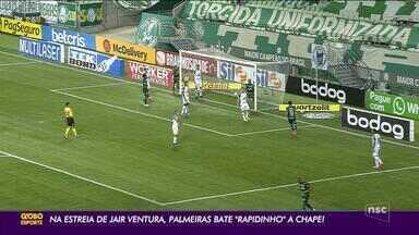 Chapecoense é derrotada pelo Palmeiras na Série A - Chapecoense é derrotada pelo Palmeiras na Série A