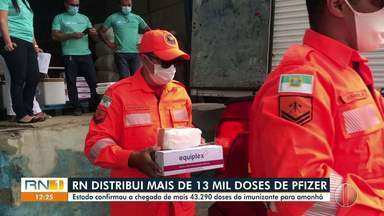RN distribui novo lote de Pfizer para municípios - RN distribui novo lote de Pfizer para municípios