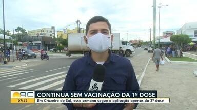 Pelo 5º dia seguido, Cruzeiro do Sul segue sem aplicar primeira dose contra Covid - Pelo 5º dia seguido, Cruzeiro do Sul segue sem aplicar primeira dose contra Covid