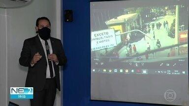 Secretaria de Defesa Social reúne imprensa para explicar sobre ação da PM em protesto - Secretário Humberto Freire explica o que pode ter acontecido com o uso de bala de borracha