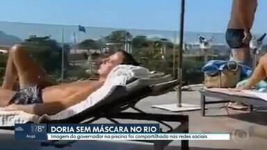 João Doria é visto sem máscara em hotel no Rio de Janeiro - As imagens viraram alvo de críticas de apoiadores do presidente Jair Bolsonaro.