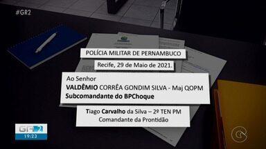 Documento da PM revela de onde teria partido ordem para dispersar manifestantes em Recife - A comunicação é assinada por um oficial que atuava como comandante