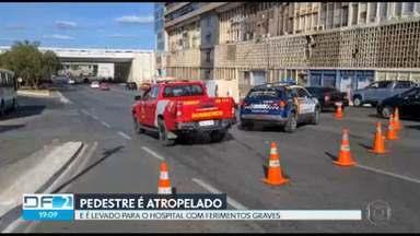 Pedestre é atropelado no centro de Brasília - Motoristas da capital também alertam sobre os trechos perigosos da DF-150. A direção do DER diz que vai intensificar as ações de fiscalização na região.