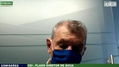 'CEI da Água' ouve especialistas em saneamento na Câmara de Bauru - Vereadores de Bauru participam nesta segunda-feira (7) dos trabalhos da Comissão Especial de Inquérito (CEI) formada na Câmara para investigar o não cumprimento do Plano Diretor de Água, criado em 2014.