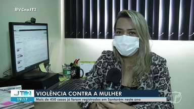 Mais de 450 casos de violência contra a mulher já foram registrados em 2021 em Santarém - Polícia alerta para importância das denúncias.